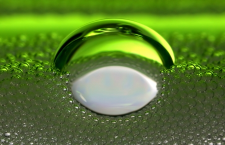 a bubble on a bed of fizz