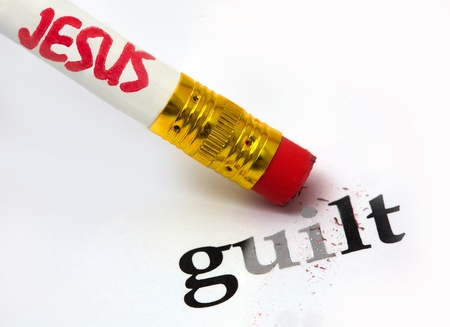 concept of Jesus erasing guilt, using an eraser as analogy Stock Photo - 16935921
