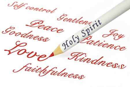concepts of the fruits of the Spirit as from Galatians 5:22 photo
