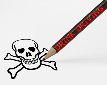 intoxicated: Concept of drink driving leading to death Stock Photo