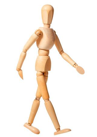 a single manikin walking, looking towards the camera Stock fotó