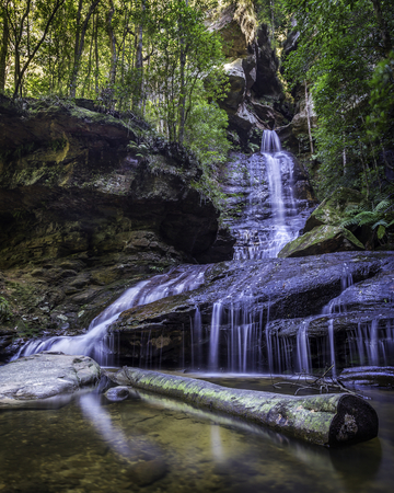 A long exposure of Empress Falls in Blue Mountains National Park