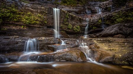 Lower Wentworth Falls in the Blue Montains National Park , Australia