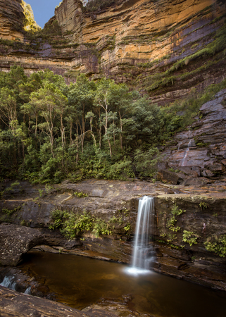 Lower Wentworth Falls in the Blue Montains National Park , Australia Imagens - 48015186