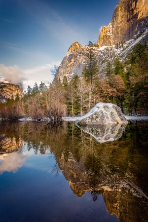 yosemite mirror lake at sunset Imagens