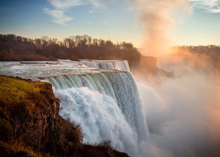 American Niagara Falls at sunset