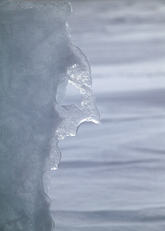 Nature sculpts a face of the winter photo