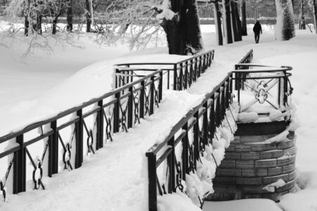 Snow-covered Park Stock Photo - 10669020