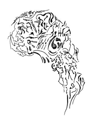 mishmash: Graphic fantasy non human head