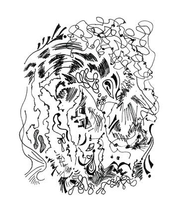 begining: All'inizio disegnato a mano astrazione del sogno