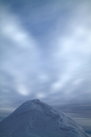 conglomeration: Textured snow peak in the evening