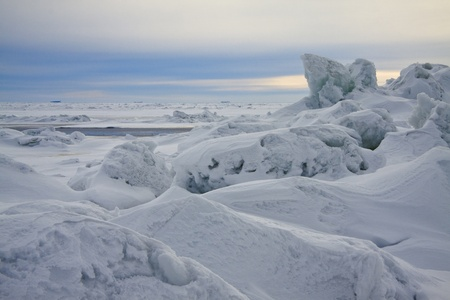 conglomeration: Hummocked ice near to the North Pole