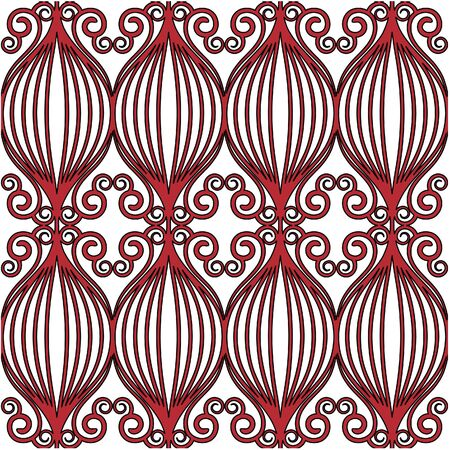 Seamless fence-liked background in red photo