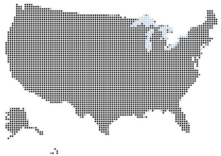 Mosaic of the USA map Stock Photo
