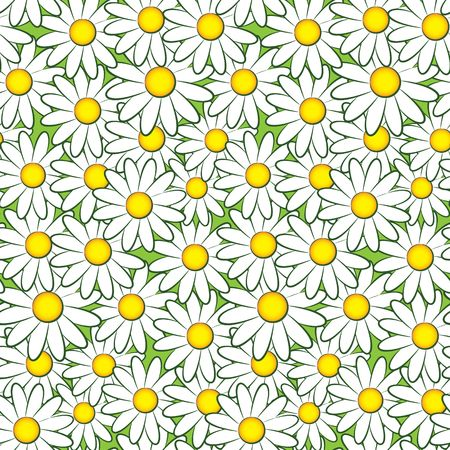 Seamless pattern with flowers photo
