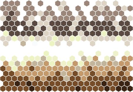 Hexagonal mosaic in brown colors photo