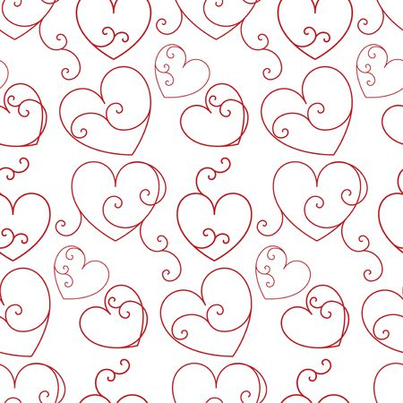 Seamless background with hearts Stock Photo - 4667476