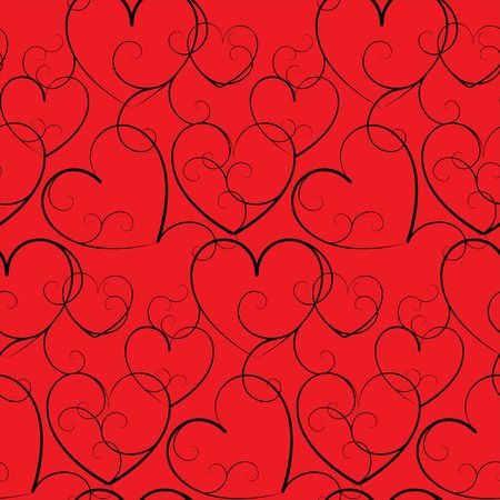 Seamless background with hearts Stock Photo - 4667237