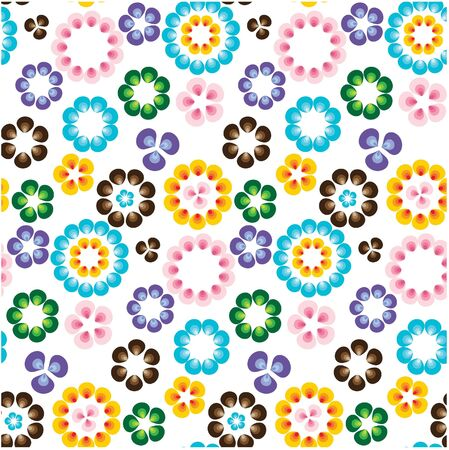 Seamless nature pattern with flowers photo