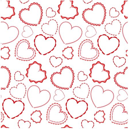 Seamless background with hearts Stock Photo - 4667442