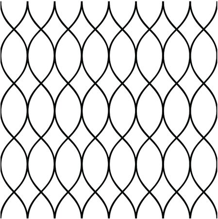 Seamless fence-liked background in black and white colors Stock Photo