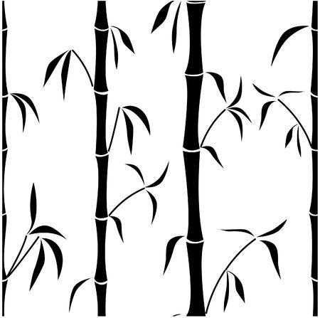 Samless pattern with a bamboo  photo