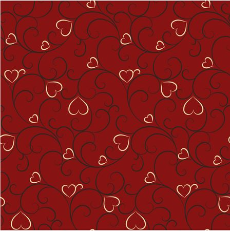 Seamless background with hearts Stock Photo - 4667334