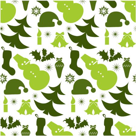 Christmass seamless background with snowmen photo
