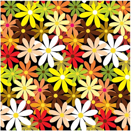 Seamless nature pattern with flowers