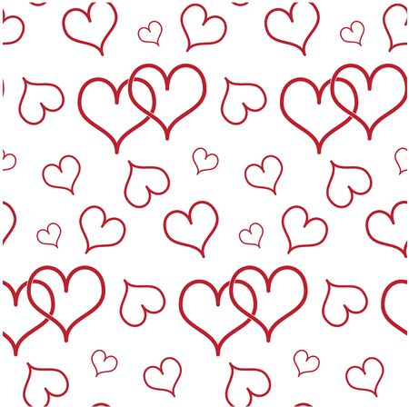 Seamless background with hearts photo