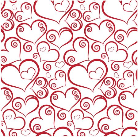 love background: Seamless background with hearts