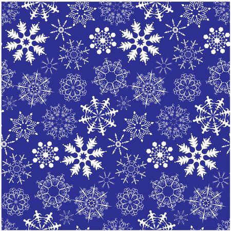 Christmas seamless background with snowflake photo