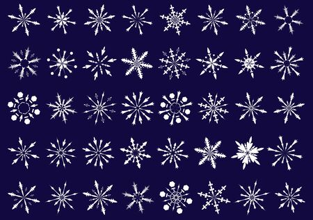 Snowflakes collection (40 different designs) photo