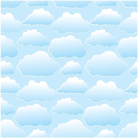 Seamless background with clouds photo