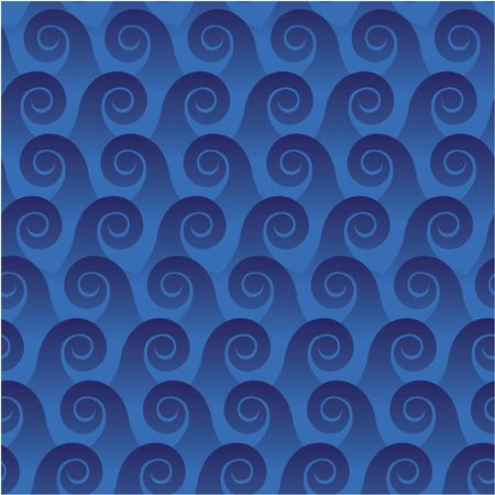 Seamless pattern with ocean waves