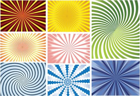 Set of colorfull stripped backgrounds