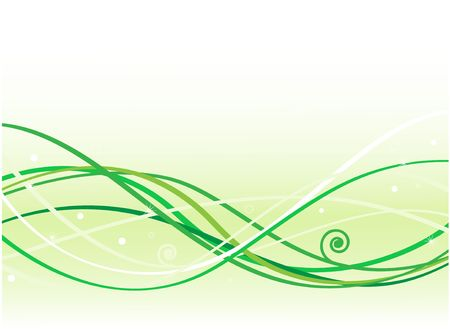Green waves background Stock Photo