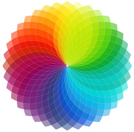 chromatic color: Color wheel background