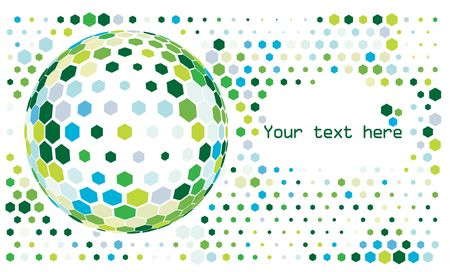Hexagon mosaic background