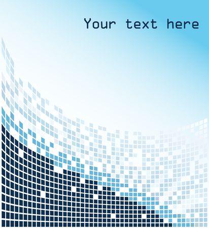 Blue mosaic background Stock Photo