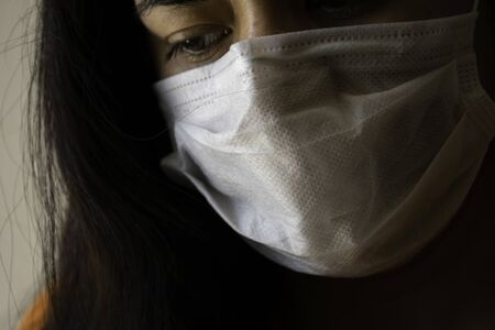 Woman who is sad because she tested positive for coronavirus Banque d'images