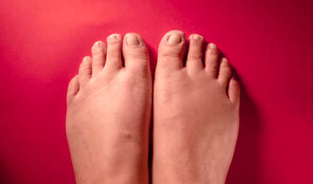 The part of the human body that runs from the ankle to the tips of the fingers, and is mainly used for walking and supporting the body. Stok Fotoğraf