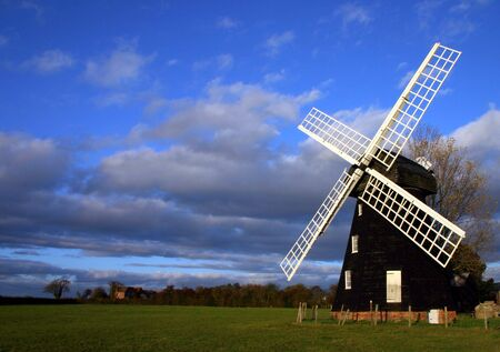 lacey: Lacey Green windmill in buckinghamshire dates from 1650 and is the oldest smock design windmill in England  Stock Photo
