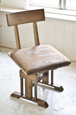 easy chair: leather easy chair