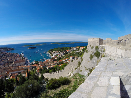coastal city: Coastal City with Harbour Panorama