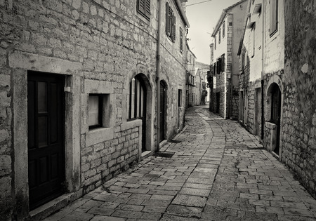 Old Historical Stone Street Banco de Imagens