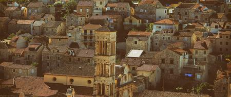 coastal city: Typical Houses of Coastal City in Croatia Stock Photo