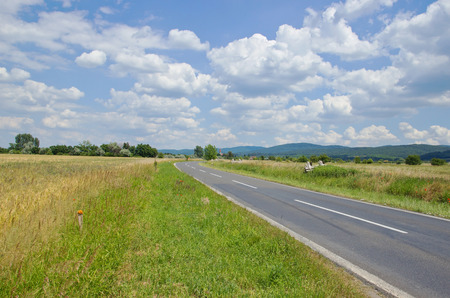 county side: Empty Road in Wide Country