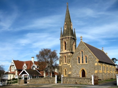 ecclesiastical: A church and a convent of New South Wales, Australia