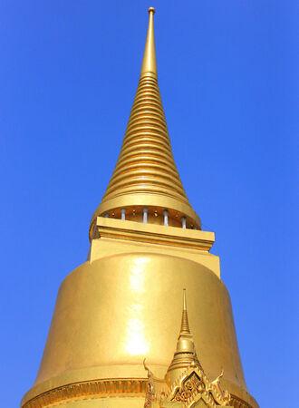 southeastern: The gold pagoda in Grand Palace Wat Phra Kaew Bangkok, Thailand  Stock Photo